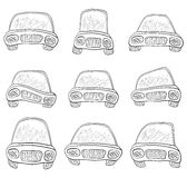Cartoon, set cars, contours Royalty Free Stock Photos