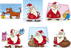 Cartoon Set of Christmas Themes Royalty Free Stock Photos