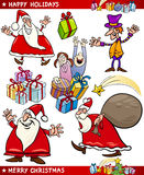 Cartoon Set of Christmas Themes Royalty Free Stock Images