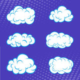 Cartoon set of clouds in comic book Royalty Free Stock Images