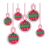 Cartoon set collection garlands christmas decoratives Royalty Free Stock Images