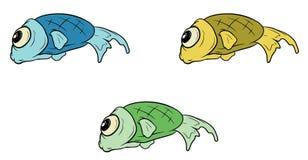 Cartoon set of different fish. A vector illustration of cartoon set of different fish Stock Photography