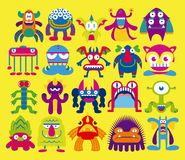 Cartoon Set Of Different Monsters Isolated Stock Image