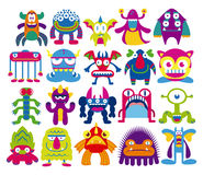 Cartoon Set Of Different Monsters Isolated Stock Images