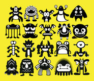 Cartoon Set Of Different Monsters Isolated Stock Photo