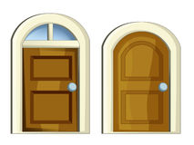 Cartoon set of doors for different usage. Beautiful and colorful illustration for the children - for different usage - for fairy tales royalty free illustration