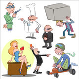 Cartoon set, illustration Stock Photography