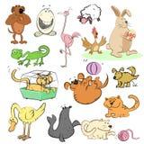 Cartoon set, illustration. Cartoon set, collection of figures illustration Royalty Free Stock Photos