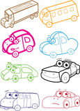 Cartoon Set Of Cars Royalty Free Stock Images