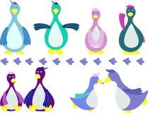 Cartoon Set Of Pinguns. Royalty Free Stock Photo