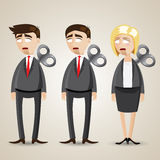 Cartoon set of robot businessman vector illustration