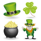 Cartoon set. St.Patricks Day. Stock Image
