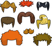 Cartoon set wigs Stock Photo