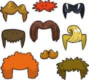 Cartoon set wigs Stock Photo
