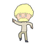 cartoon seventies style man disco dancing Royalty Free Stock Image