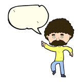 Cartoon seventies style man disco dancing with speech bubble Royalty Free Stock Photography