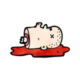Cartoon severed head Royalty Free Stock Photo