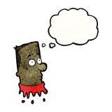Cartoon severed head man Stock Photography