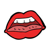 Cartoon sexy lips symbol Stock Image