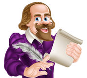 Cartoon Shakespeare Stock Photography
