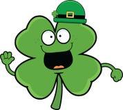 Cartoon Shamrock In Bowler Hat Stock Image