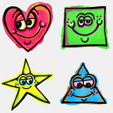 Cartoon Shapes Royalty Free Stock Images