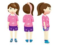 Cartoon shapes girls and boys royalty free illustration