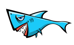Cartoon shark. A cute shark cartoon illustration on white background,vector illustration Royalty Free Stock Image
