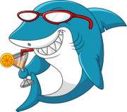 Cartoon shark. Illustration of Cartoon shark drinking Stock Illustration