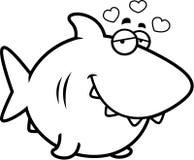 Cartoon Shark in Love Royalty Free Stock Image