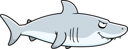 Cartoon Shark Profile Royalty Free Stock Image