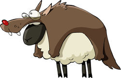 Cartoon sheep Stock Photos