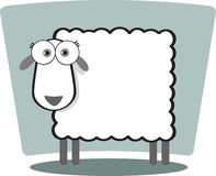 Cartoon Sheep. In black and white with big eye Stock Images