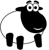 Cartoon Sheep. Lamb, isolated. Vector Illustration Stock Photo