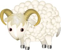 A cartoon sheep Stock Photography