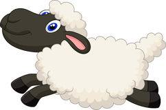 Cartoon sheep jumping Royalty Free Stock Image