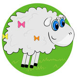 Cartoon sheep. mammal animal Royalty Free Stock Image