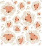 Cartoon sheep pattern Royalty Free Stock Photos