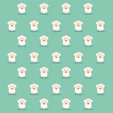 Cartoon sheep texture Stock Image
