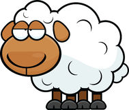 Cartoon Sheep Tired Stock Photo