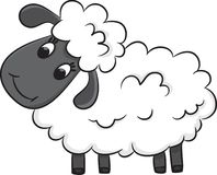 Cartoon sheep Royalty Free Stock Photography
