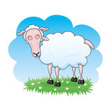 Cartoon sheep. Royalty Free Stock Photo