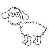 Cartoon sheep, vector lamb Stock Images