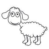 Cartoon sheep, vector lamb Stock Images
