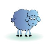 Cartoon sheep, vector lamb Royalty Free Stock Photos