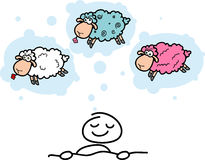 Cartoon sheeps Royalty Free Stock Photography