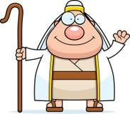 Cartoon Shepherd Waving Royalty Free Stock Images