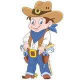 Cartoon sheriff boy stock photography