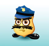 Cartoon sheriff character. Stock Photos