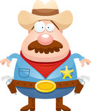Cartoon Sheriff Mustache Royalty Free Stock Image
